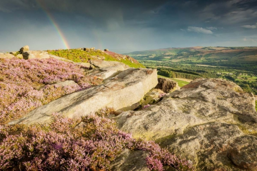 Light and dark in the purple Peak District